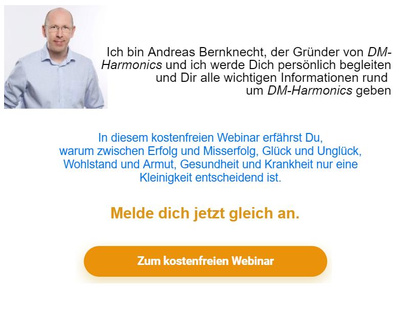 Webinar Anmeldung zu Binaurale Beats Audio und Videos von DM-Harmonics