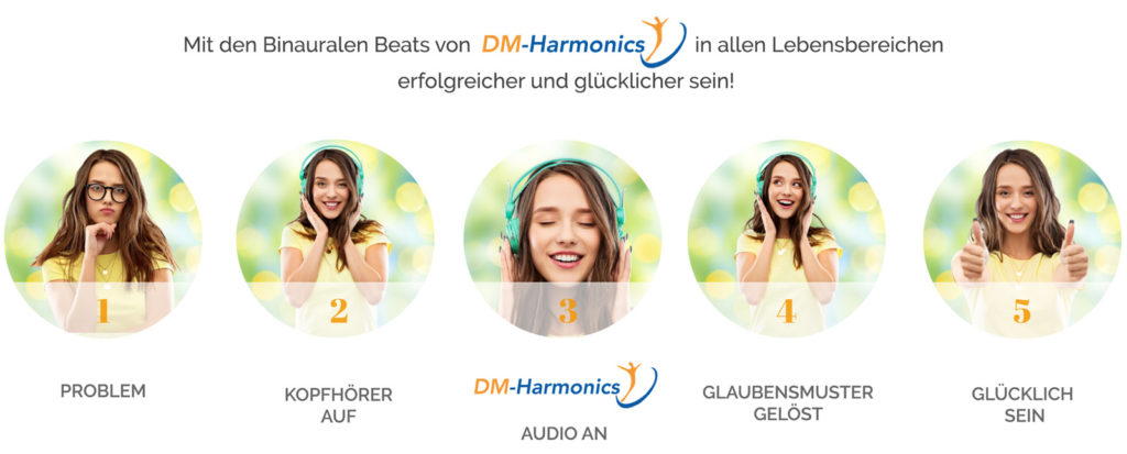 Binaurale Beats Audio Video von DM-Harmonics