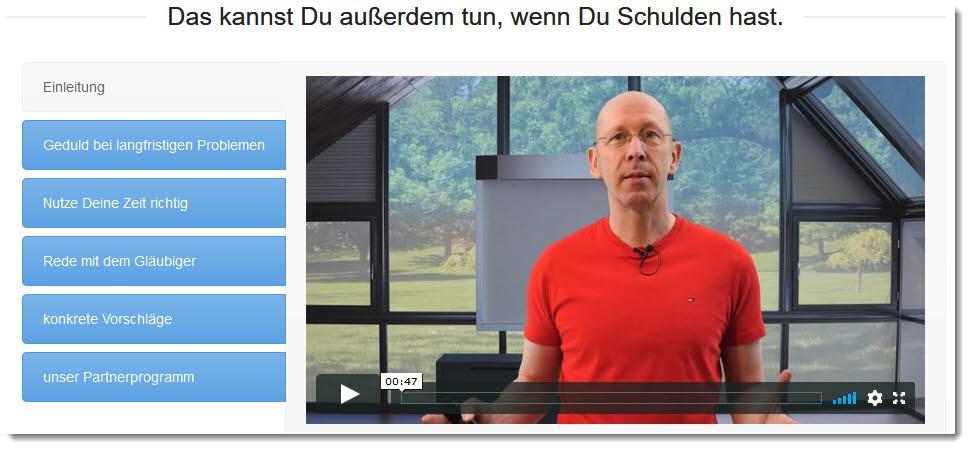 Dm-Harmonics-wie werde ich meine schulden los-Ausschnitt vom Memberbereich mit Andreas Bernknecht