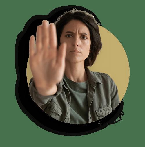 Dm-Harmonics-So wehrst du Energievampire ab-Frau sagt Stopp zu Energieentzug